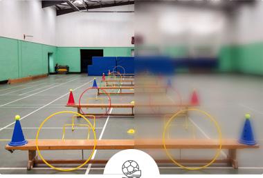 Pabellón deportivo escolar