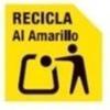 Simbolo amarillo de reciclaje
